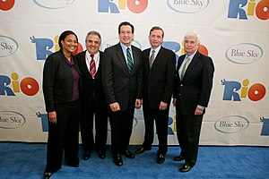 20th Century Fox Animation - Image: Rio premiere, CT Science Center, Morrison, Gianopulos, Malloy, Keane, Dodd