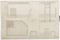 Ritning grevens rum, Hallwylska palatset - Hallwylska museet - 102161.tif