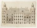 Ritning på Skoklosters slotts gårdfasad, 1650-tal - Skoklosters slott - 98115.tif