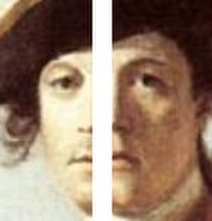 Robert Orme (soldier) - Split view of Orme's face