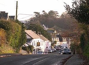 Roborough - The main village street of Roborough