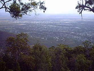 Rockhampton - Rockhampton, as seen from Mount Archer