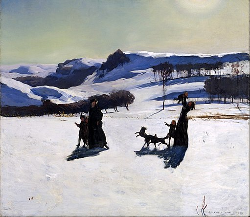 Rockwell Kent - Snow Fields (Winter in the Berkshires) - Google Art Project