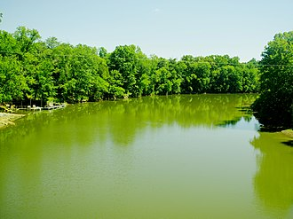 Rocky River (Tennessee) - View from the Bone Cave Road bridge