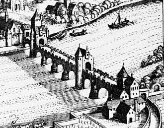 Roman Bridge (Trier) - Image: Roman Bridge Trier 1646