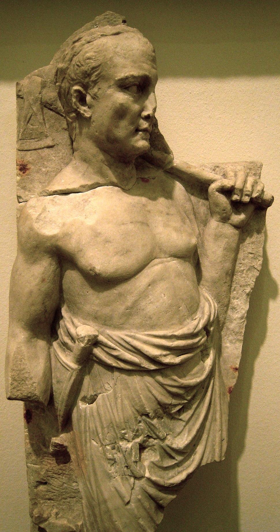 Roman priest w axe