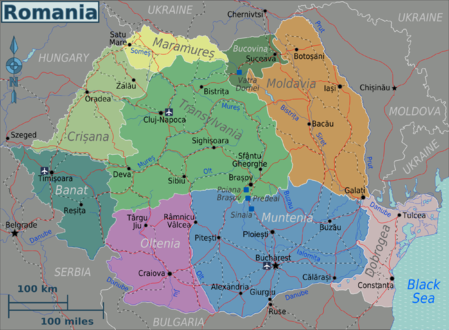 Romania Regions map.png