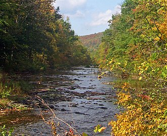 Rondout Creek - Rondout Creek at the eastern edge of the Catskills,  between Napanoch and Rondout Reservoir.