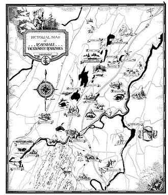 Rosendale, New York - Rosendale in 1938