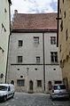 Rothenburg ob der Tauber, Rathaus, Rosmaringäßchenseite, 2014-001.jpg