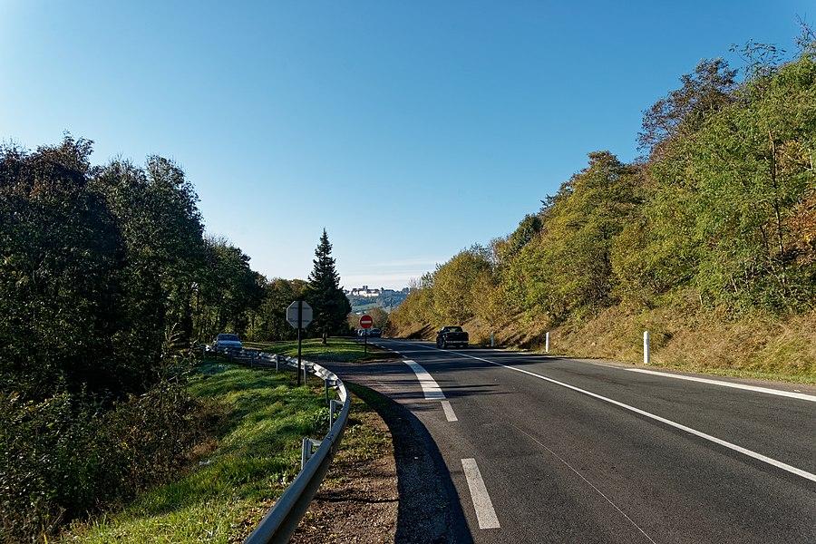 Route de Langres - View SW towards Langres