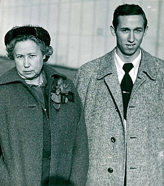 Roy E. Disney - Disney with his mother, in Sweden 1951.