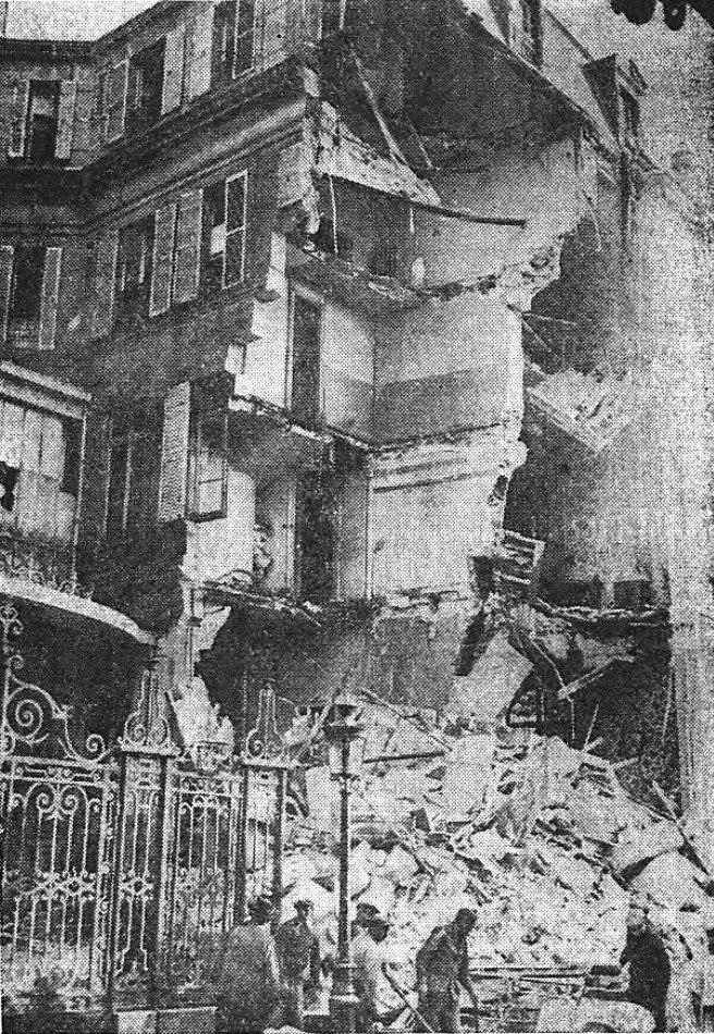 Rue de Presbourg après l'attentat du 11 septembre 1937