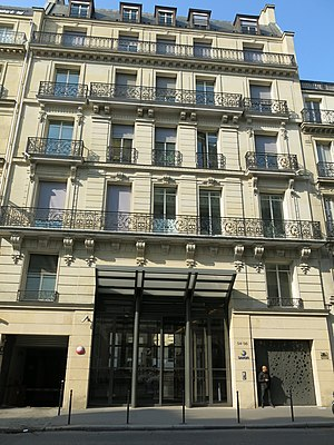 Sanofi - Head office 54 rue de la Boétie, Paris 8th around.