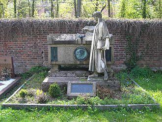 Franz Xaver Kraus - Gravesite of Kraus at the Hauptfriedhof Freiburg