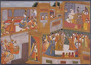 Rukmini - The marriage of Krishna and Rukmini