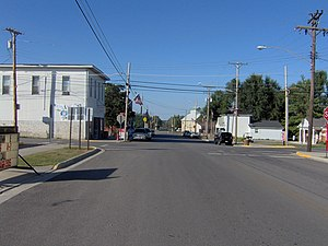 Ohio State Route 274 - View along State Route 274 in Rushsylvania.