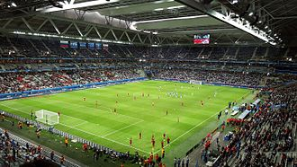Stade Pierre-Mauroy - The stadium during the UEFA Euro 2016.