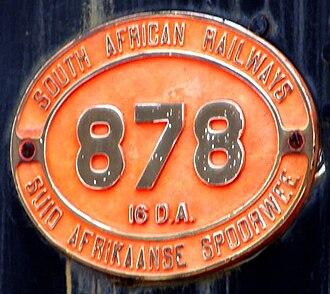 South African Class 16DA 4-6-2 1930 - Image: SAR Class 16DA 878 (4 6 2) ID