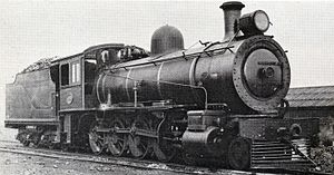 South African type XC tender - Image: SAR Class 8 1088 (4 8 0) CGR 779