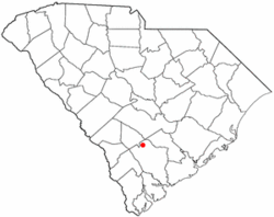Location of Smoaks, South Carolina