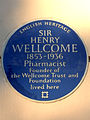 SIR HENRY WELLCOME 1853-1936 Pharmacist Founder of the Wellcome Trust and Foundation lived here.jpg