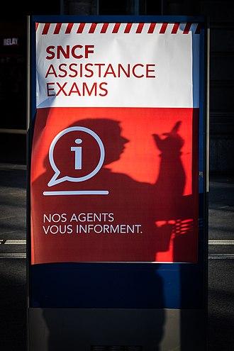 Avenir (typeface) - Image: SNCF Assistance Exams Strasbourg 16 juin 2014