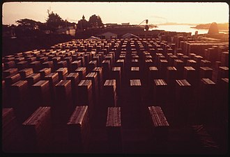 Westhaven-Moonstone, California - A lumber yard in Moonstone, 1972