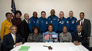 Barbara Lee - Barbara Lee meets with NASA Administrator Charles Bolden and the STS-129 space shuttle crew