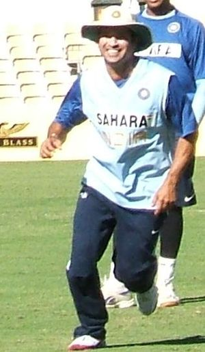 Sachin Tendulkar fielding at Adelaide Oval
