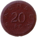 Sachsen, 1921, 20Pf, Keramik b.png