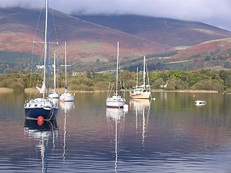 Civil parishes in Cumbria - Image: Sailing yachts at nichol end facing south into winter sun geograph.org.uk 77308