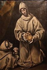 Saint François d'Assise et frère Léon méditant sur la mort