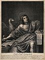 Saint John the Evangelist. Line engraving by N. Bazin, 1704, Wellcome V0032394.jpg