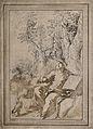 Saint Mary Magdalen. Coloured etching by A. von Bartsch, 178 Wellcome V0032705.jpg