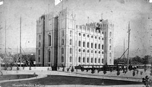 History of Salt Lake City - Salt Lake City Temple under construction