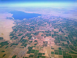 Imperial Valley - Ariel view of Imperial Valley and Salton Sea