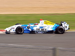 Salvador Durán - Durán driving for Interwetten.com at the Silverstone round of the 2008 Formula Renault 3.5 Series season.