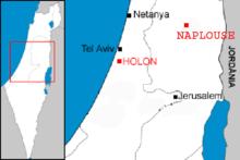 Localiza��o das duas cidades onde vivem os Samaritanos