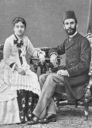 Secularism in Albania - Sami Frashëri with his wife