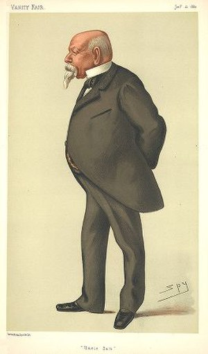 "Samuel Cutler Ward - ""Uncle Sam"" Ward as caricatured by Spy (Leslie Ward) in Vanity Fair, January 1880"