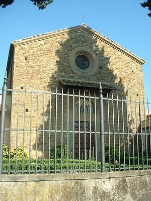 San Leonardo in Arcetri - Façade of the church.