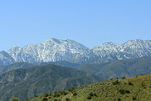 San Gabriel Mountains - Wikipedia, the free encyclopedia