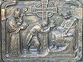 Sankt Oswald bei Freistadt Pfarrkirche - Portal 6 Kreuz an der Piktenmauer.jpg
