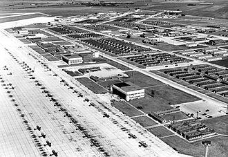 Camp Gary - San Marcos Army Air Field, 1946, looking east along the flightline.
