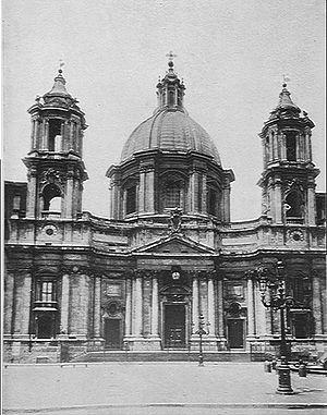 Sant'agnese in agone - facciata - 1911
