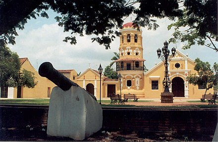 Historic Centre of Santa Cruz de Mompox, an architectural site with colonial elements Santa Barbara - Mompos.jpg