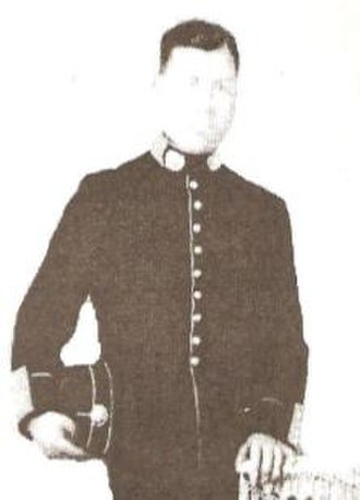 National Police of Peru - Subinspector Mariano Santos Mateos, who fought in the War of the Pacific