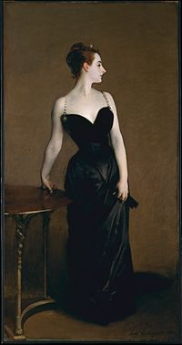 This portrait by John Singer Sargent of Virginie Amélie Avegno Gautreau  depicting her cleavage caused considerable controversy when it was  displayed at the ... 8e0922b9ec1