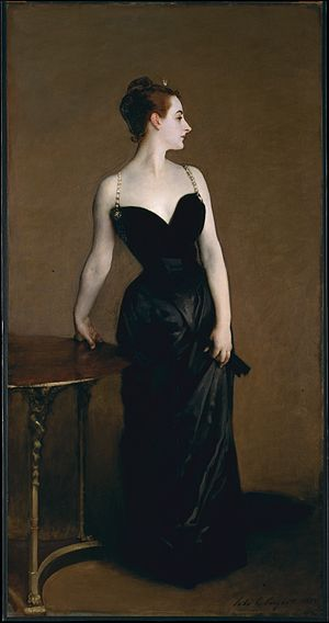 Salon (Paris) - This portrait by John Singer Sargent of Virginie Amélie Avegno Gautreau depicting her cleavage caused considerable controversy when it was displayed at the 1884 Salon.